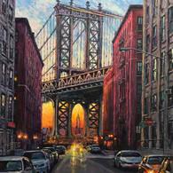 Manhattan Bridge View from Washington St.