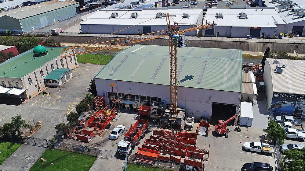 Drone view of the Tower Crane Training yard