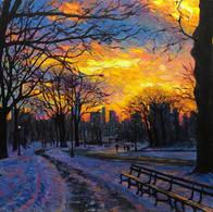 Winter Sunset, Central Park
