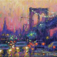 Rainy Streets, Brooklyn Bridge