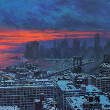 Winter Sunset, View from Brooklyn