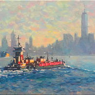 Morning Tug and Barge