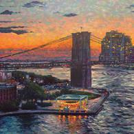 Dusk Brooklyn Bridge Park
