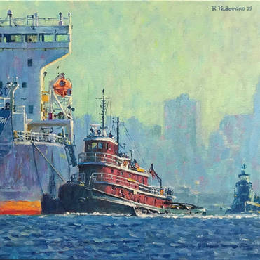Tugs and Tanker, New York Harbor