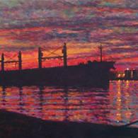 Sunset on the Kill van Kull
