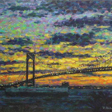 Verrazano Bridge and the Wallenius Wilhemsen