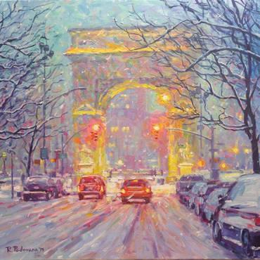 Washington Square Park, Winter
