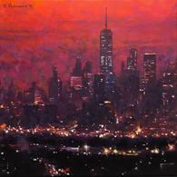 Red Dusk, Lower Manhattan