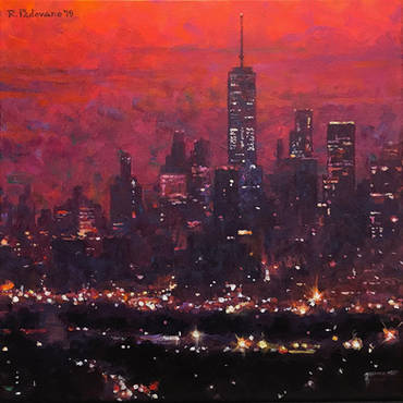 Red Dusk, Lower Manhattan