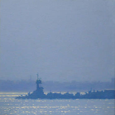Morning Tug, Blue Haze