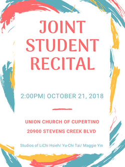 2018 Joint Student Recital