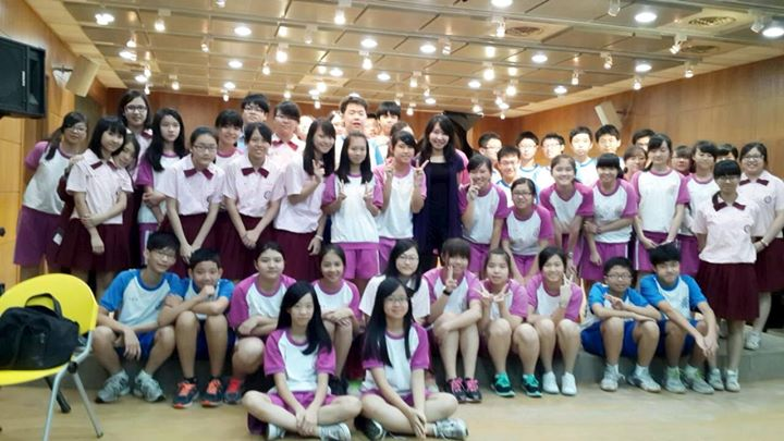 It was fun to give a Master class at the Chongqing junior high school! Their performances were full