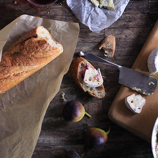 Enjoy classic french bread and cheese
