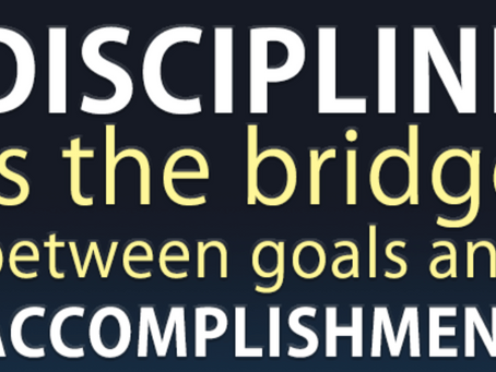 Discipline is the Name of the Game