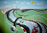 Formula 1 Racing Mural