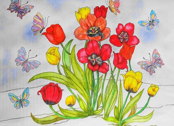 『花と蝶』土江政美 :作