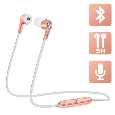 ecouteurs-wireless-bluetoo th-micro-rose