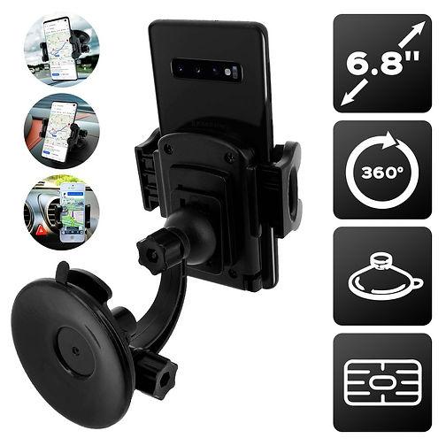 Support voiture 3 en 1 Noir - Pour smartphone 6.8