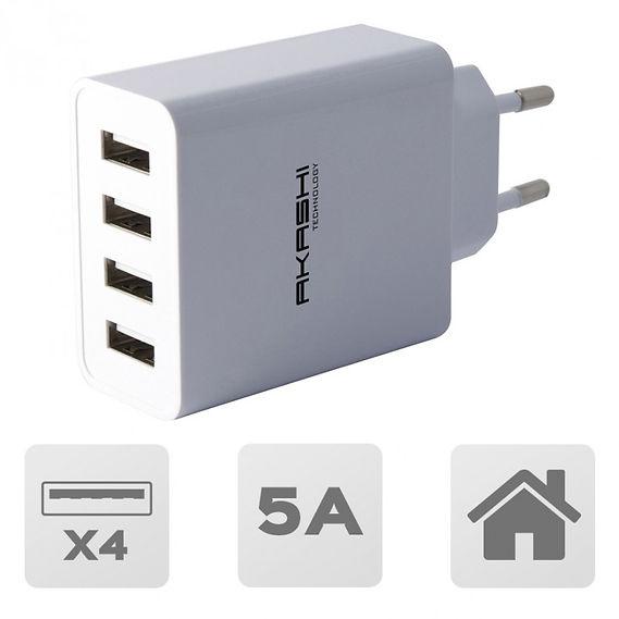 Secteur Charge Rapide 5A 4 USB
