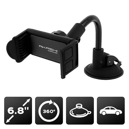 Support voiture pour pare-brise Noir - pour smartphone 6.8