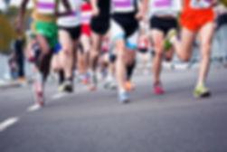 Les coureurs de marathon