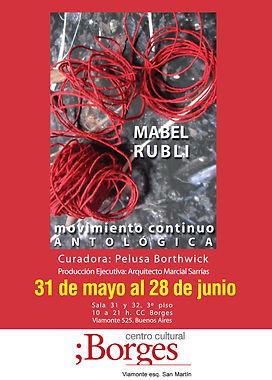Muestra Antologica de MABEL RUBLI