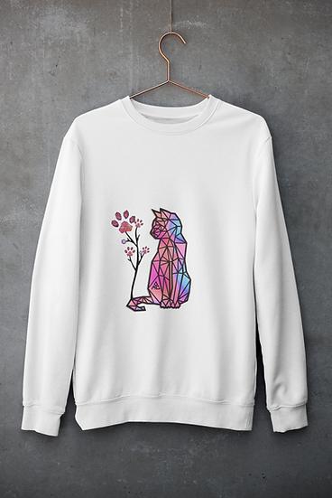 Unisex Crewneck Sweatshirt Pinkpurplecat