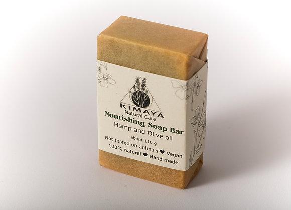 סבון הזנה על בסיס שמן זית ושמן המפ