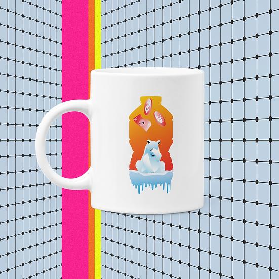 Plastic bear mug