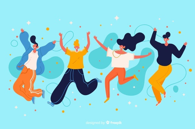 young-people-jumping-together-illustrati