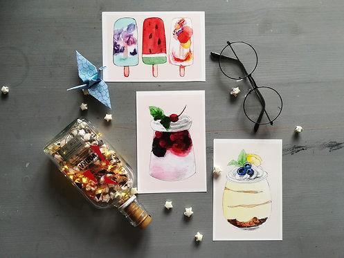 Aesthetic food prints