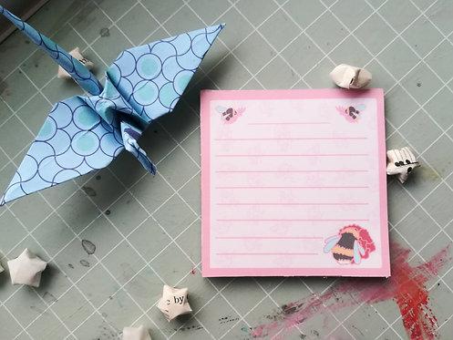 Bumblebee memo pad