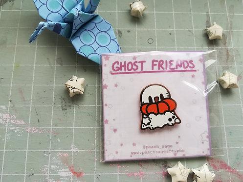 Pumpkin Ghost Pin