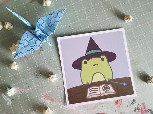 Evil Froggie Wizard Print