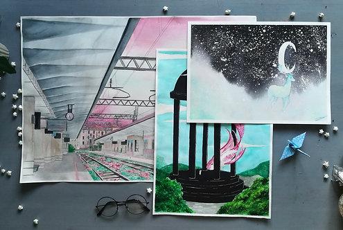 Fantasy Landscape Original Paintings