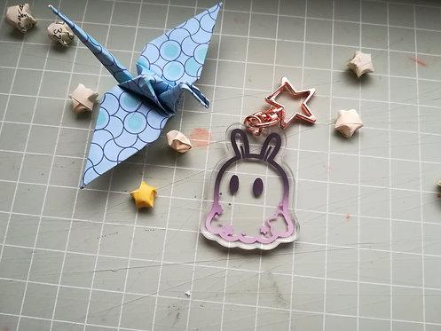 Bunny Ghost Friend Acrylic Charm