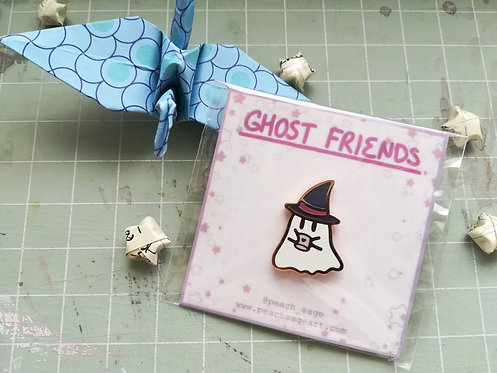 Wizard Ghost Pin