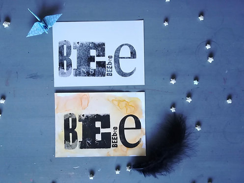 Bee Typography Print