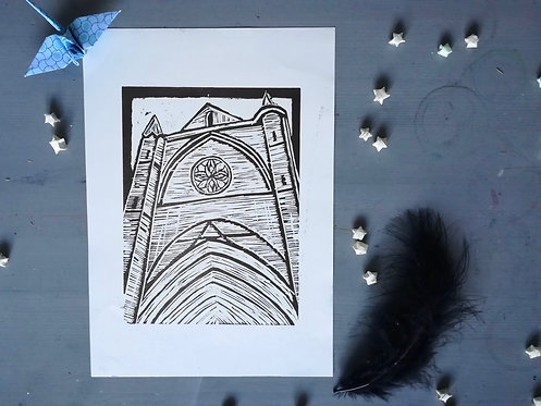 Cathedral Lino Prints