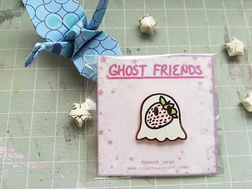 Strawberry Ghost Pin