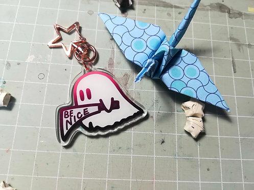Knife Ghost Friend Acrylic Charm