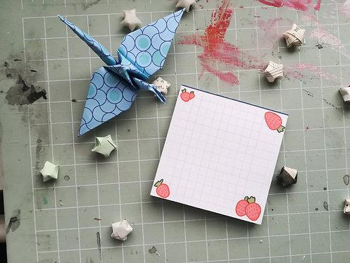 Strawberry memo pad