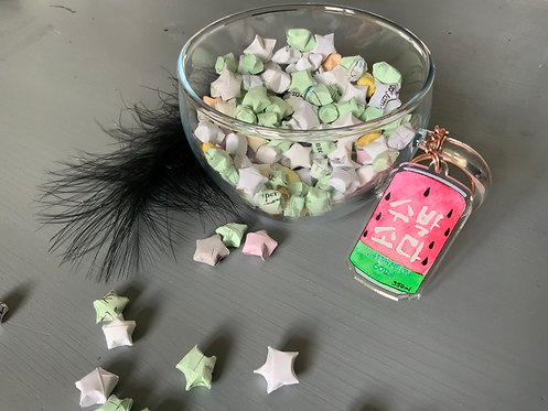 Watermelon Soda Acrylic Charm Keychain