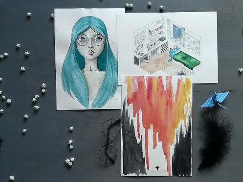 Random A4 Original Paintings
