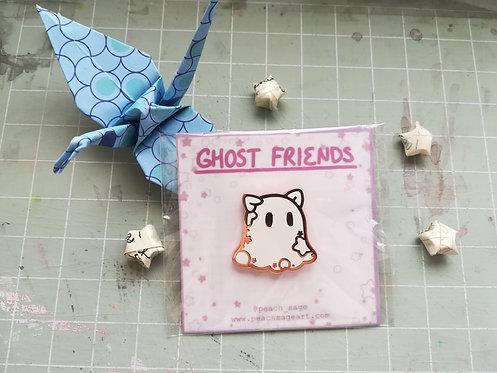 Ghost Kitty Pin