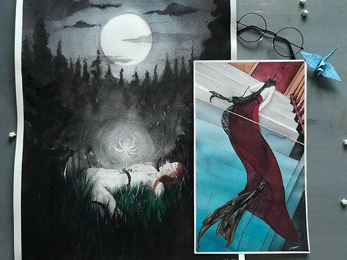 Fantasy Women Original Paintings