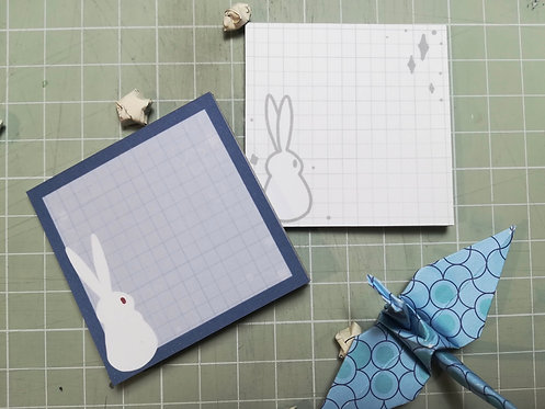 Moon Bunny memo pads
