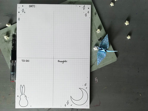 A4 Moon Bunny Planner Notepad