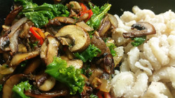 Mushroom Stir-fry & Spelt Mac
