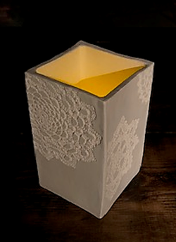 Lace Luminary in White